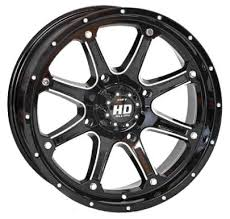HD4 Machined & Black (set of 4)